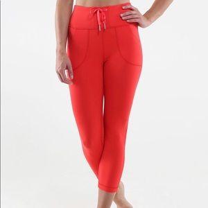 Lululemon red leggings